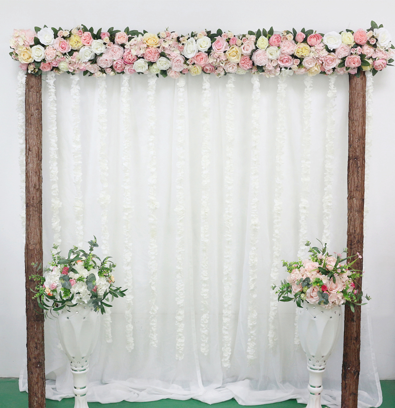JAROWN Artificial 2M Rose Flower Row Wedding DIY Arched Door Decor Flores Silk Peony Road Cited Fake Flowers Home Party Decoration Maison (28)