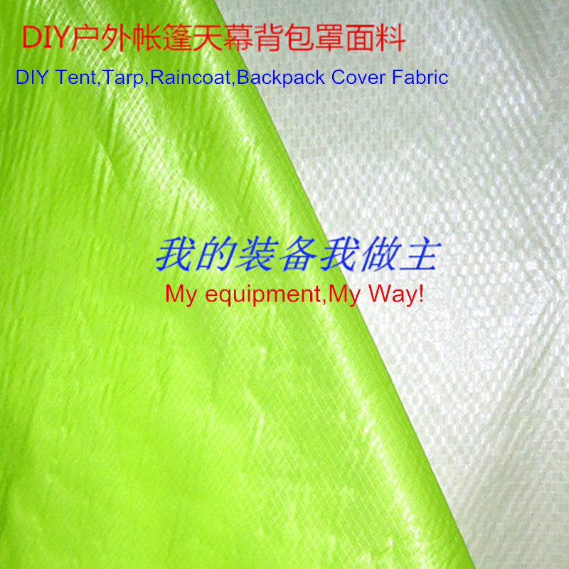 Supply DIY Fabric For Tent Tarp 15D Nylon Double Ripstop Both Side Silicone 2,000mm