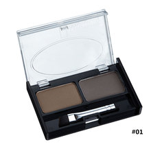 MYG waterproof eyebrow palette powder 2 color long lasting eyebrow enhancer wax sombrancelhas eye shadow brow makeup pomade