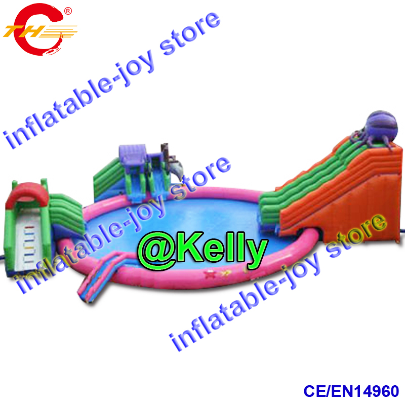 Inflatable Water Slide Port Macquarie: Free Shipping To Sea Port Big Inflatable Water Park For