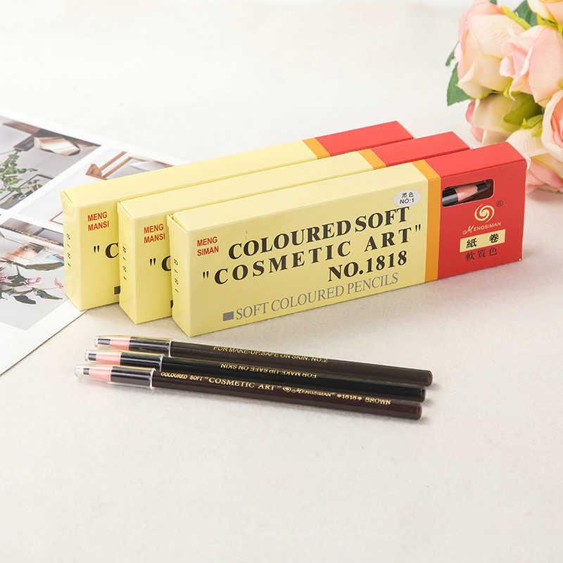 5 gekleurde Soft 1818 Wenkbrauwpotlood Cosmetische Art 1818 Waterdichte Microblading Pen langdurige Wenkbrauw Enhancer Make Gereedschap