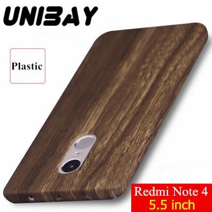 imágenes para Unibay Xiaomi RedMi Nota 4 Caja de madera de Lujo A Prueba de Golpes de color Mate escudo de Plástico Duro de Nuevo Caso de la Cubierta para Xiaomi Redmi Nota 4