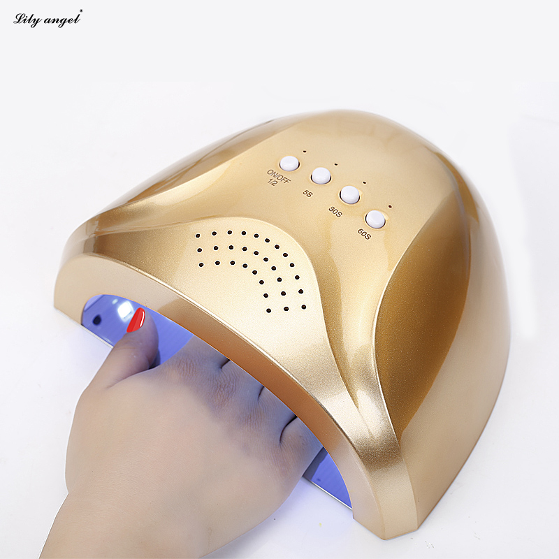 New 24/48W UV Lamp Nail Polish Dryer LED White Light 5S 30S 60S Drying Fingernail&Toenail Gel Curing Nail Art Dryer Manicure new pro 48w nail lamp manicure dryer fit uv led builder gel all nail polish nail art tools sun5 professional machine