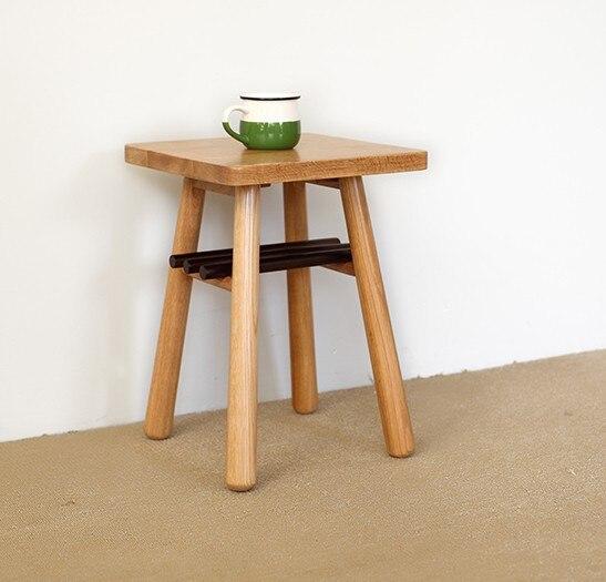 Японский стиль мебель из массива дерева чайный столик, Дубовая Мебель, 100% дубовый стол, квадратный стол, мебель для гостиной, пасторальный с...