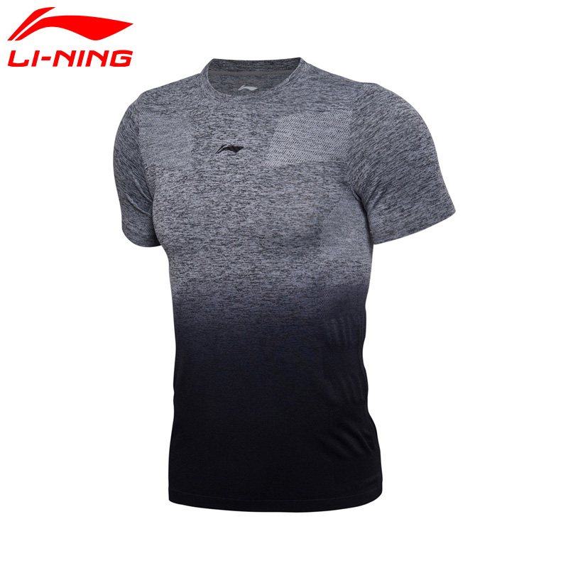 Li Ning Men Basketball Jerseys Mono Yarn Breathable 69% Nylon 31% Polyester LiNing Sports T shirts ATSM247 MTS2670