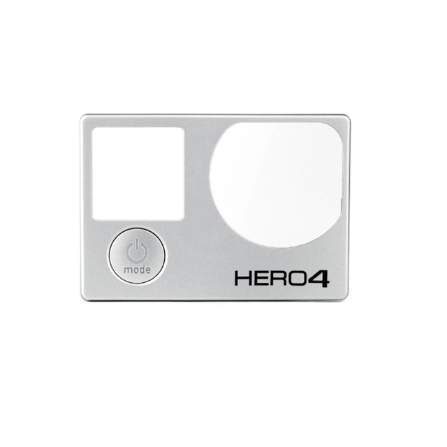 Front Board for Gopro Hero 4 Front Panel Cover Faceplate with Mode Button Repair Parts Replacement for Go Pro Accessories Silver