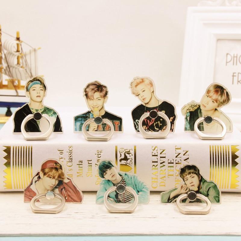 Kpop BTS Album V Suga K-POP Jungkook Jimin Jin Real People Case Rings 360 Degree Finger Stand Holder Rings ZHK lee min ho album sing for you release date 2014 10 13 kpop
