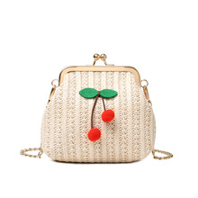 купить 2019 Woven Rattan Bag Round Straw Shoulder Bag Small Beach HandBags Women Summer Hollow Handmade Messenger Crossbody Bags по цене 990.6 рублей