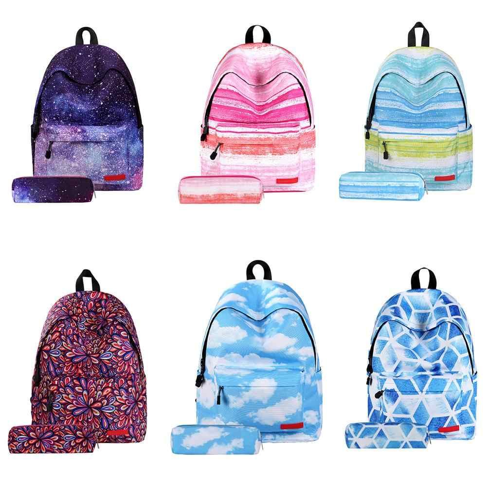Женский рюкзак со звездным узором, школьный рюкзак для хранения на заказ, школьные сумки для начальной школы с пеналом, сумка-рюкзак