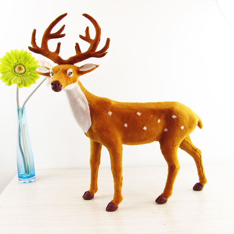 simulation deer toy fur sika deer large 40x52cm hard model handicraft decoration gift h1249 large 24x24 cm simulation white cat with yellow head cat model lifelike big head squatting cat model decoration t187