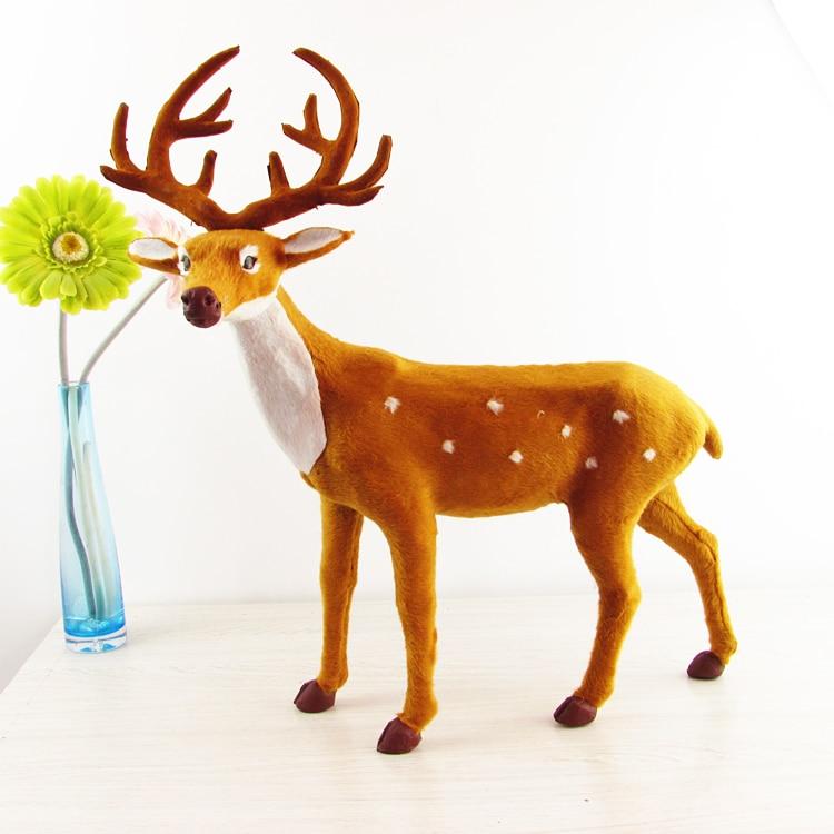 simulation deer toy fur sika deer large 40x52cm hard model handicraft decoration gift h1249 large 30x20x15cm simulation white cat miaow sounds furry fur hard model home decoration christmas gift h1168