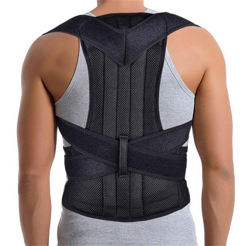 2019 Men Posture Corrector Scoliosis Back Brace Spine Corset Belt Shoulder Therapy Support Poor Posture Correction Belt