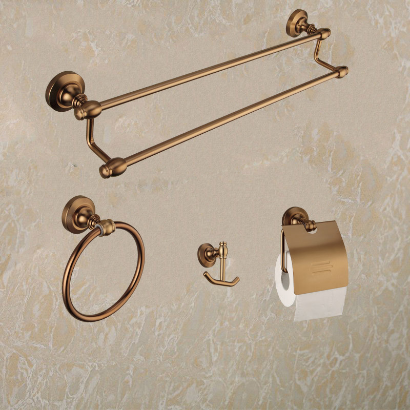 Bathroom Towel Rack Kit: Kit Banheiro Metal Real Bathroom Hardware Set Antique