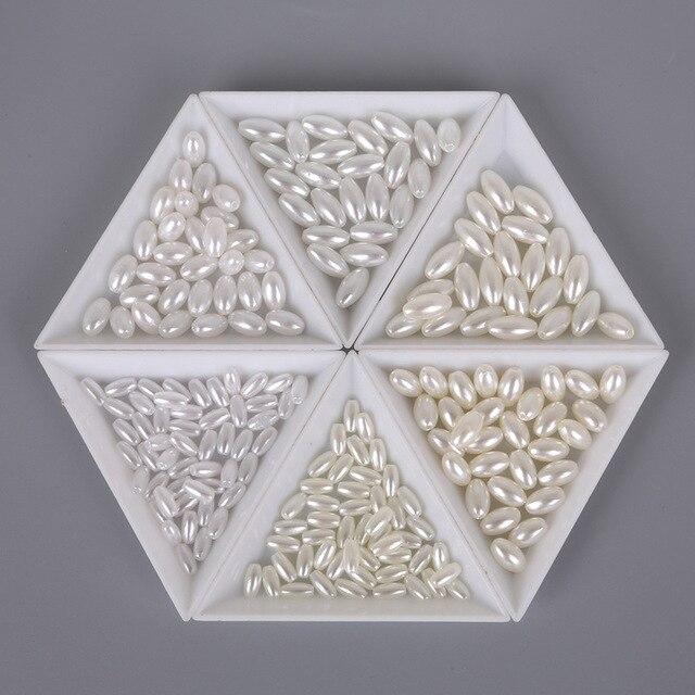 Бусины из АБС пластика с имитацией жемчуга 6 х1/6 х1/8 х11 мм
