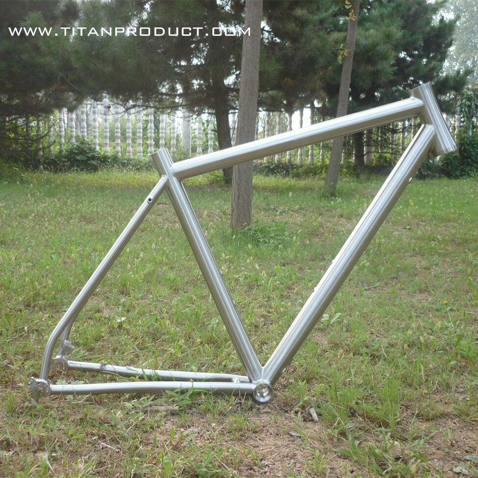 Titanio Ti marcos bicicletas interior freno de disco en Marco de la ...