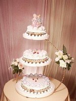 2 pcs/lot Metal Gold cake stand cake rack for wedding 3 Tier Wedding Cake Stand 30*60cm
