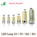 Lampada led 1Pcs Dimmable  3-12W E14 G9 G4 E12 LED Crystal lamp High End Silicone Body 3014 SMD LED light Bulb For Chandelier