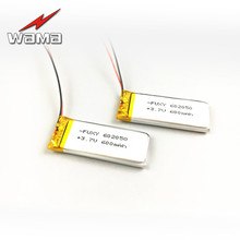 4pcs/lot WAMA 602050 3.7V Li-polymer Rechargeable Battery Over-charge Protected PCB for Lithium Bluetooth Headphones Speakers