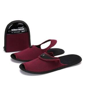 Image 3 - Осенняя обувь, 2 пары, мужская повседневная обувь, дышащие домашние тапочки, обувь для пар, для отеля, для деловых поездок, складные мюли