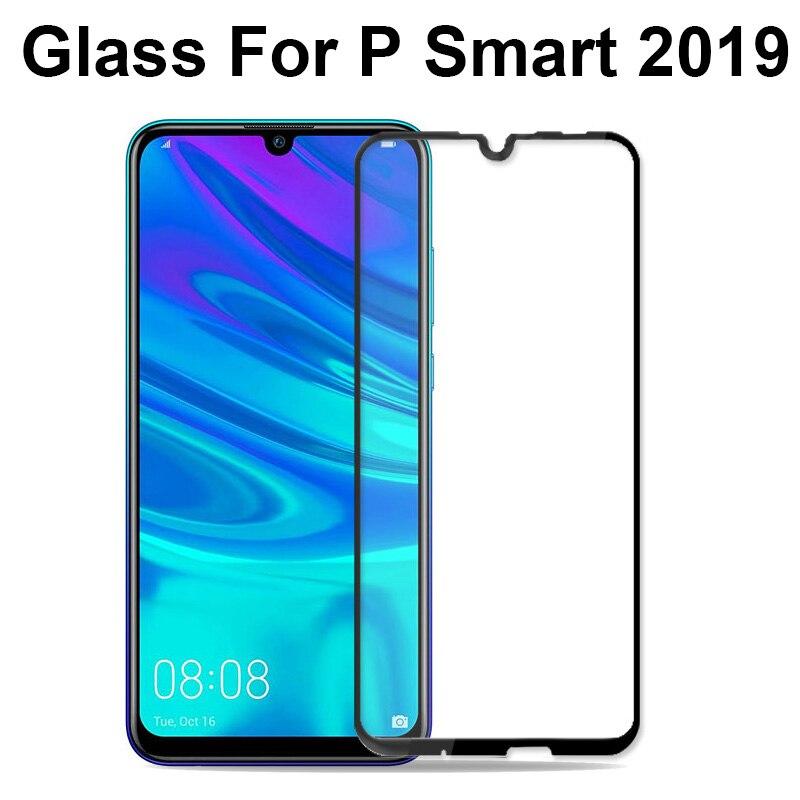 Verre de protection sur pour Huawei P smart plus 2019 protecteur d'écran couverture complète verre trempé pour Huawei psmart trempe verre