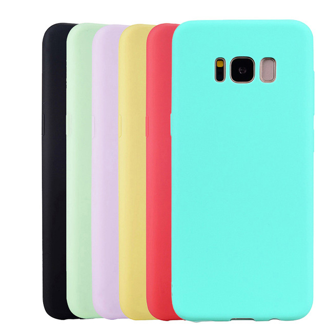 Soft Silicone Case For Samsung Galaxy S4 S5 Neo S6 S7 Edge S8 S9 Plus Note 3 4 5 8 9 Ultra thin TPU Cell Phone Back Cover image
