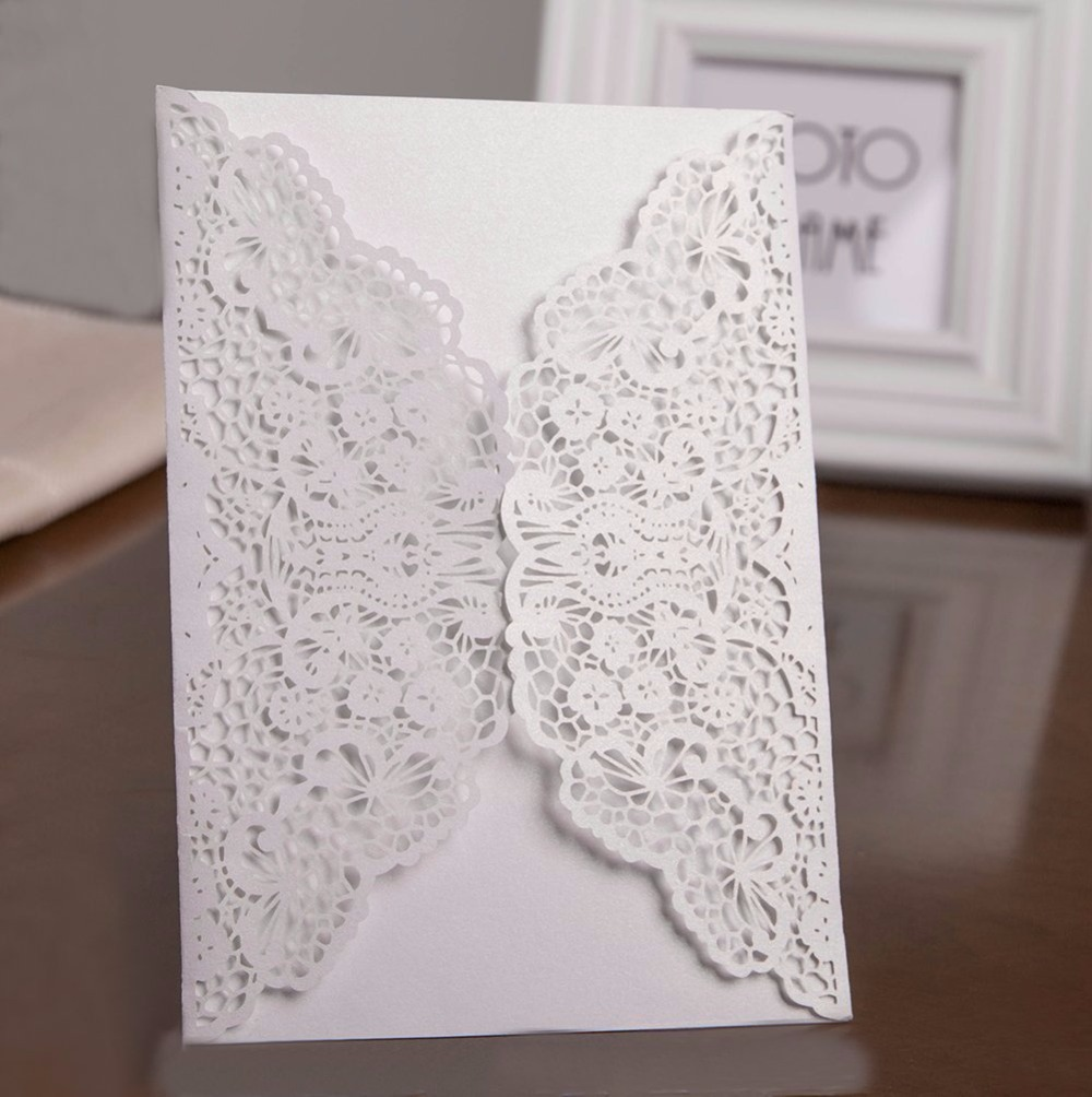 Kazipa 25 unids/set laser cut invitaciones tarjetas, kit boda ...