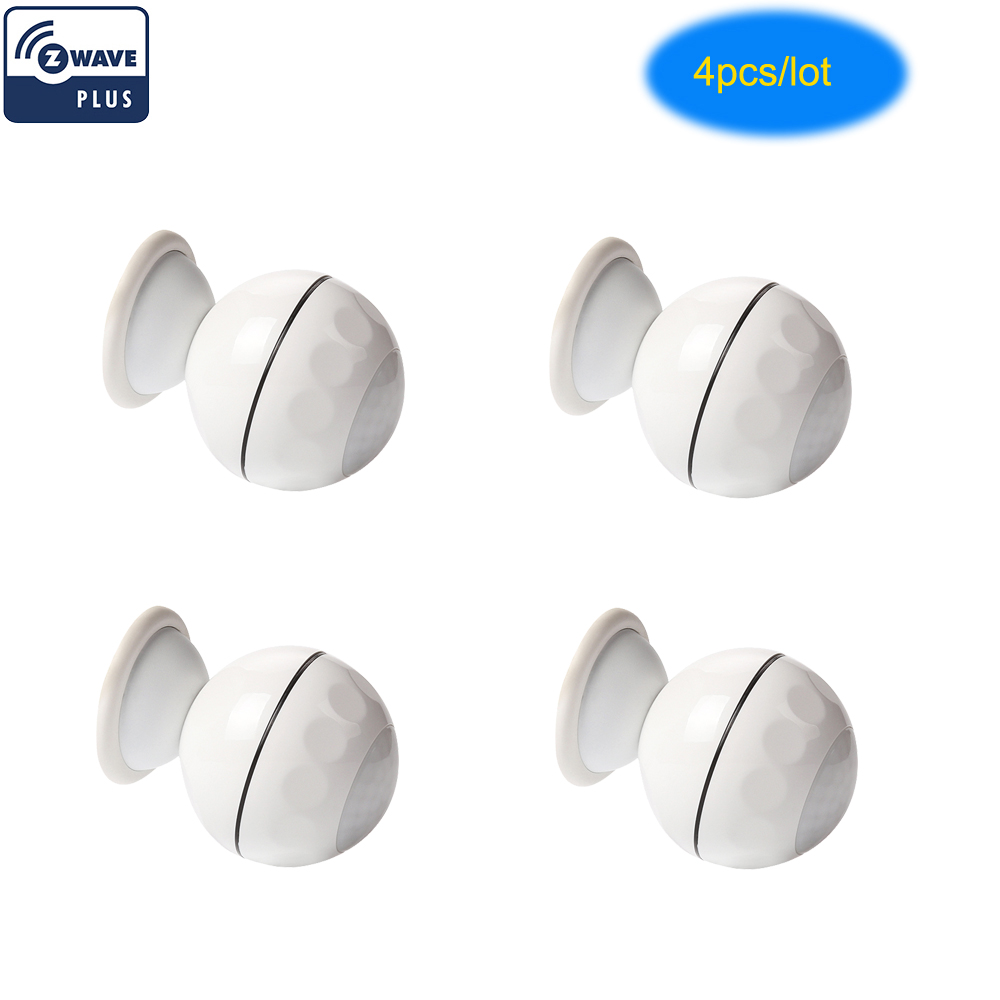NEO COOLCAM 4pc lot Z wave Plus PIR Motion Sensor Detector Home Automation Power Operated Z