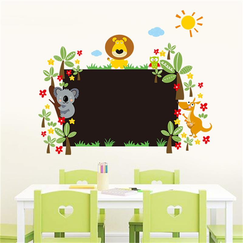 DIY Animals Blackboard Stickers Removable Vinyl Draw Decor Mural Decals Art Chalkboard Wall Sticker For Kids Rooms