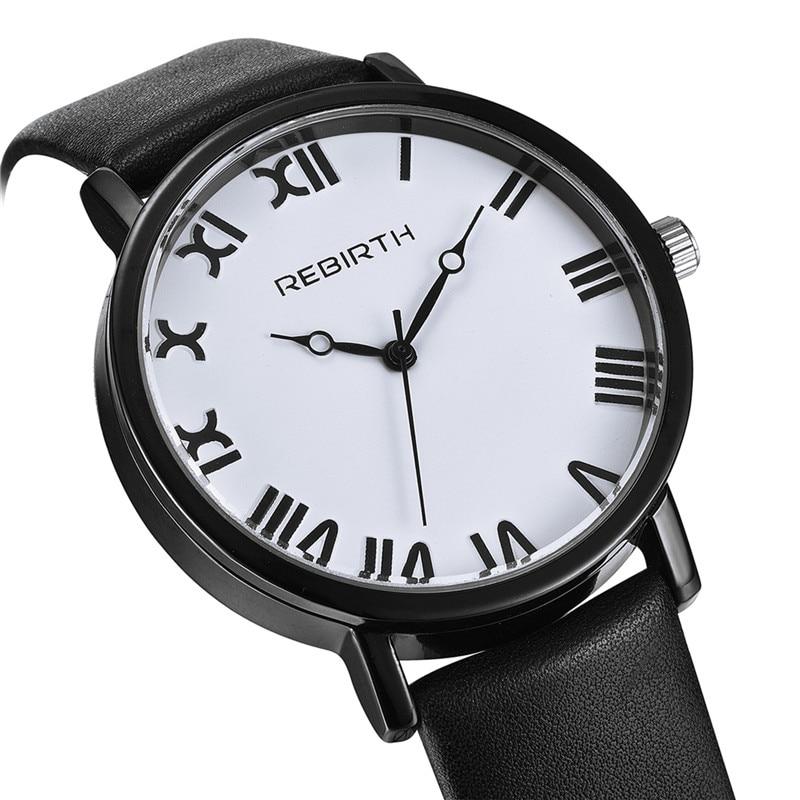 2018 Rebirth Women Watches Top Brand Luxury Ladies Classic Watch Female Casual Leather Strap Bracelet Fashion Clock Reloj Dama