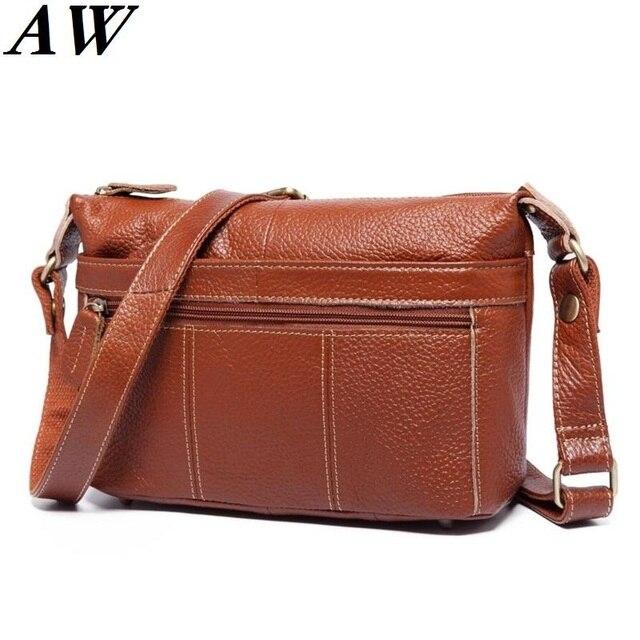 58f54ed15f86f Özel teklif! 100% hakiki deri çanta kadın askılı çanta Vintage omuzdan  askili çanta Kadın