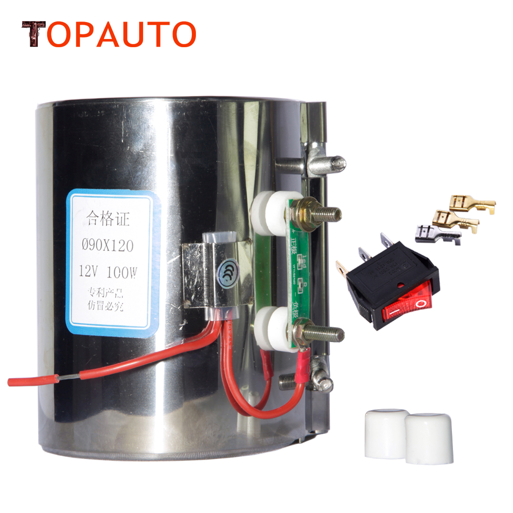 TopAuto 12V 24V Electric Heating Ring Heater For Car Diesel Pump Oil Filter Air Parking Heater
