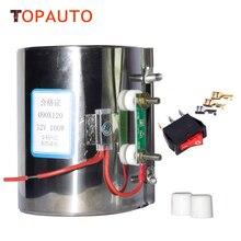 TopAuto 12 V 24 V Calefacción Eléctrica Calentador de Anillo Para El Coche Diesel Filtro de Aceite de la bomba de Aire Calefactor de Estacionamiento Webasto Bus Camión Caravana barco