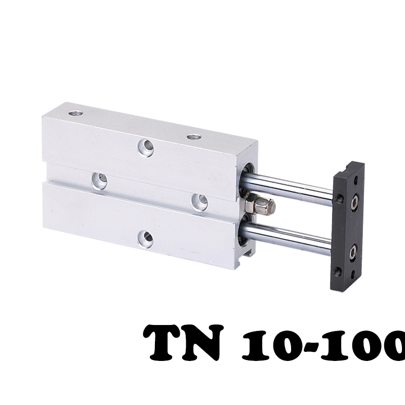 TN10-100 Two-axis double bar cylinder cylinder Dual Guide Air Cylinder Type Double Shaft Rod Aluminum Alloy Pneumatic Cylinder tn20 150 two axis double bar cylinder cylinder dual action cylinder type with magnet pneumatic air cylinder