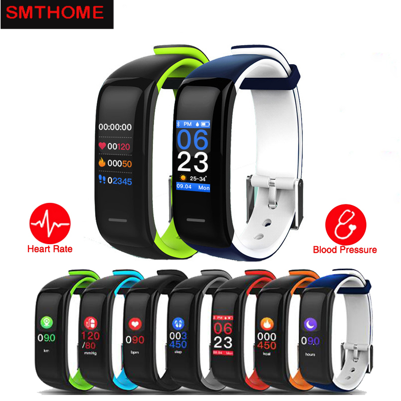 Smart Wristband P1 Plus Color Display Fitness Bracelet Pedometer Tracker Heart Rate Blood Pressure Sleep Monitor Smart band IP67
