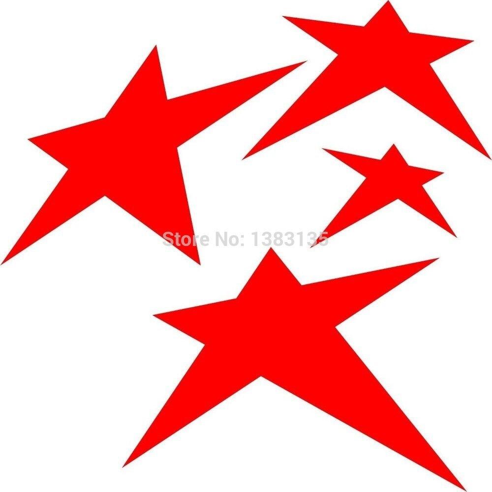 Car sticker design vector free - Wholesale 50 Pcs Lot 4 Stars Vector Image Car Sticker For Truck Window Bumper Auto