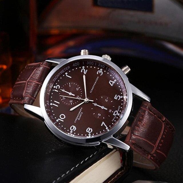 Lovers' Sport Watches 2019 Retro Design PU Leather Quartz Watches Women Clock Sport Watches For Men Relogio Feminino #Zer