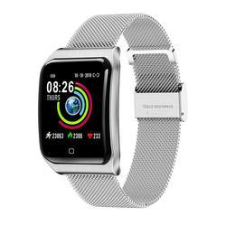 Nowy inteligentny zegarek sportowy smartband monitorujący ciśnienie krwi pulsometr smartwatch fitness z nadajnikiem