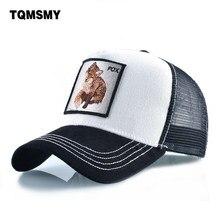 De algodón gorras para hombres bordado Fox gorra de béisbol de las mujeres  de malla transpirable sombrero de camionero Unisex pa. 99e8ab91a51