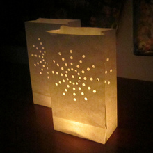 10pcs Handmade candle paper lanterns Candle holder paper Bag For Home Outdoor Romantic Wedding Decoration party supplies