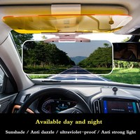 Car Anti Dazzle Mirror High Beam Automobile Mirror Sun Shading Plate Polarizing Light Protection Day Night