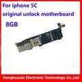 Para iphone 5c original motherboard desbloqueio de fábrica livre icould 8 gb placa lógica mainboard bom trabalho função completa sistema ios