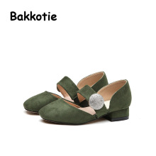 Bakkotie 2017 New Spring Fashion Child Casual Baby Leisure Shoe kid Brand Girl Princess Shoe Retro Rhinestone Hasp Shallow Pink