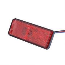 2x Универсальный Автомобильный ATV SUV 12V красный 24 светодиодный стоп-сигнал, задний тормозной светильник, лампа@ 31119