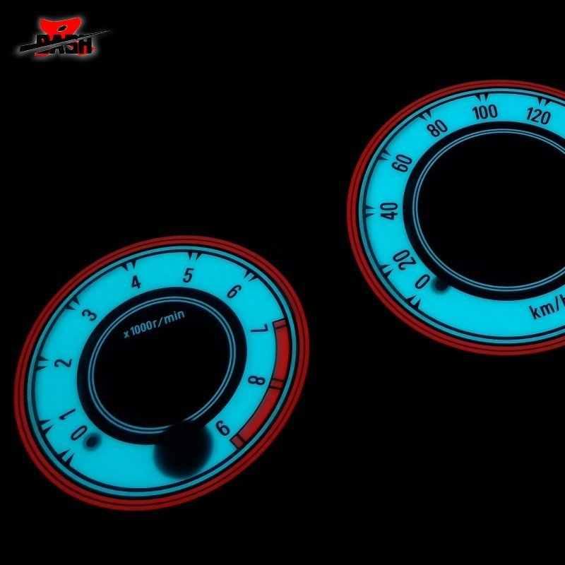 داش EL توهج مقياس ل سيفيك 1996 2000 A/T JP المواصفات أسود أبيض الوجه الأزرق الأخضر ضوء التبادل