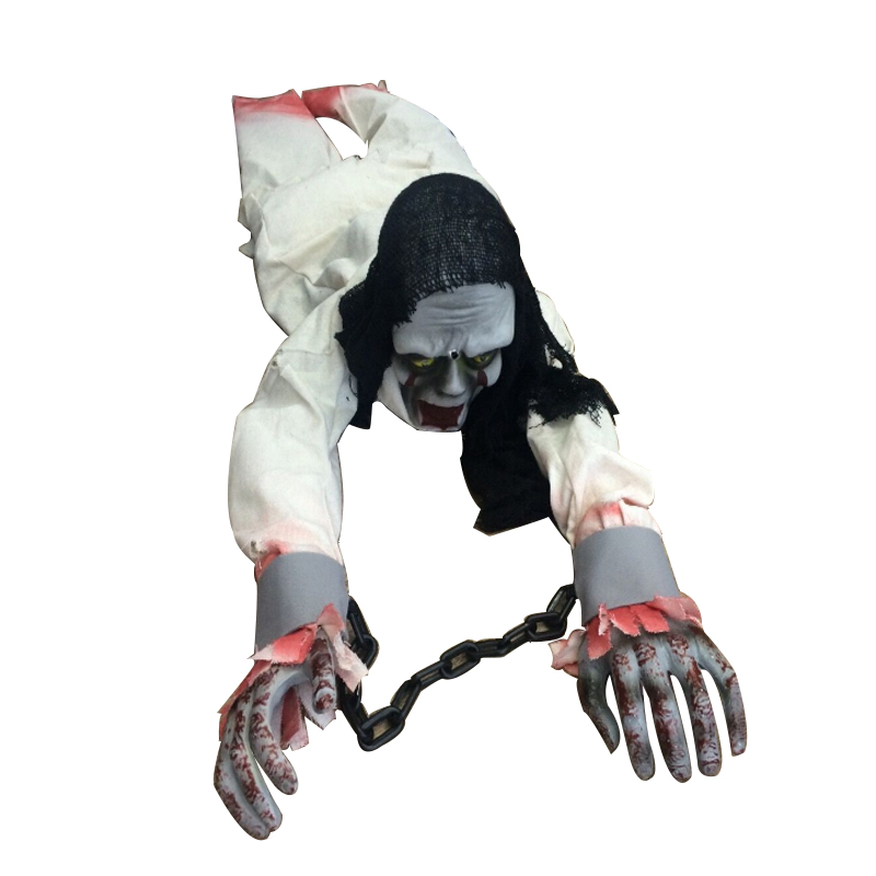 1m Ghost Haunted House Escape Horror Halloween Decorations Props Horror Electric Shouting Climbing Ghost