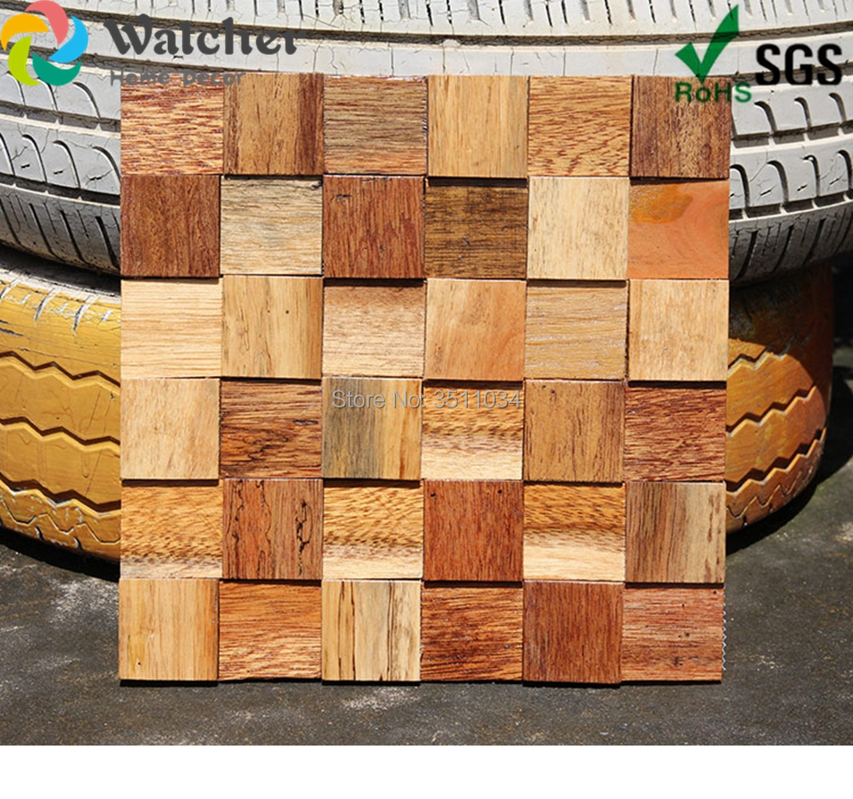Us 128 0 1box 11pieces New Designed Rosewood Mosaic Patterns Wood Mosaic Art Wood Mosaic Tile Art Wall Decorative Tile For Home Decor In Wall