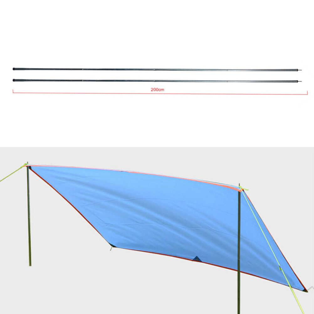 Foldable 4Pcs Black Adjustable Tarp Shelter Tent Poles Bracket Set For Camping