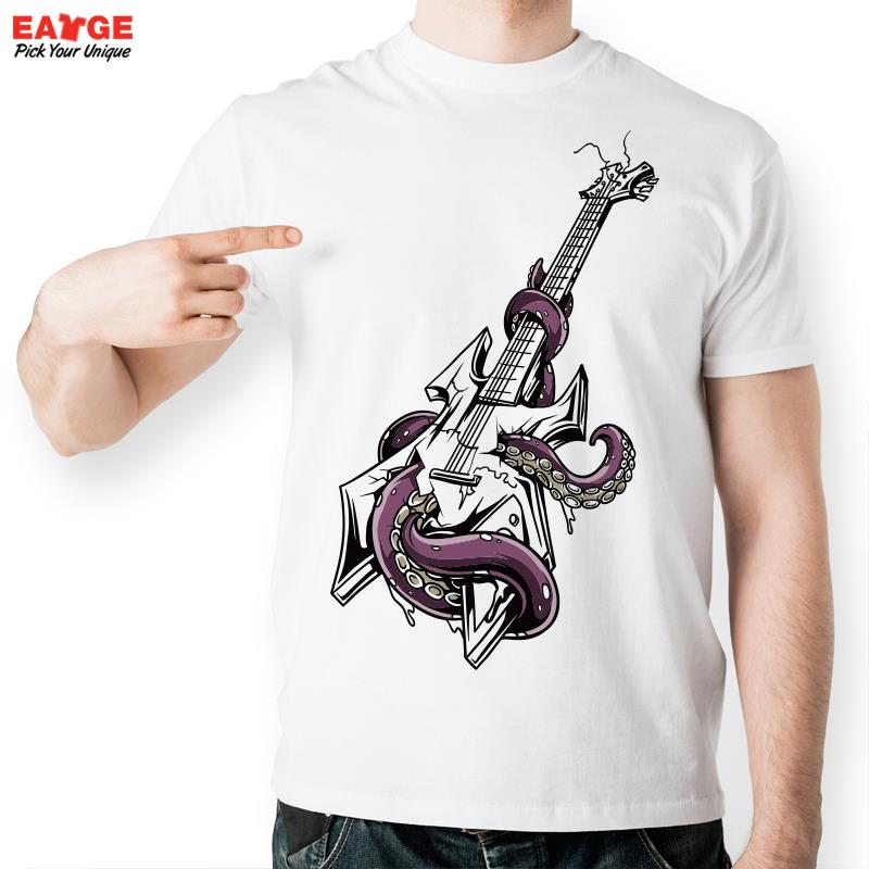 Octopus Twisting Electric Guitar T Shirt Design Inspired
