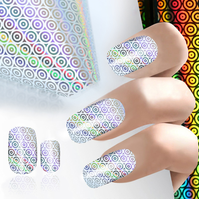 1pc 1004cm Round Dot Transfer Nail Foil Craft Semi Transparent