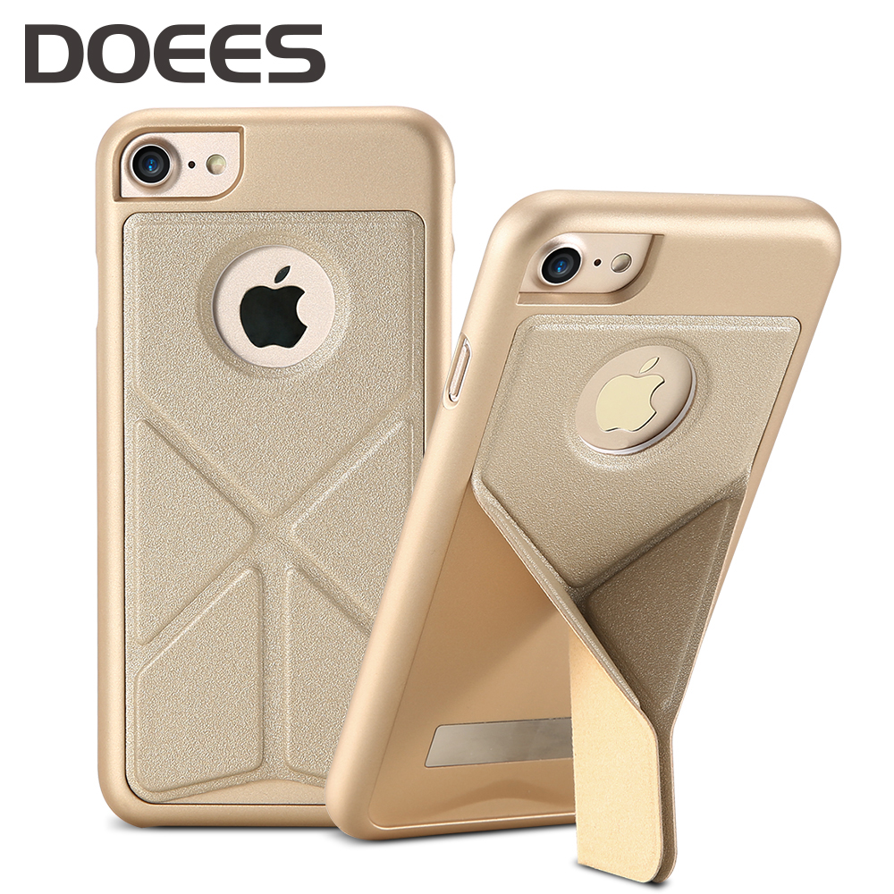 DOEES Phone Holder Stand Case For iPhone 7 7 Plus Armor Case Folding Adjustable Magnetic Back Kickstand Cover For iPhone 7 Plus